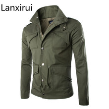 Haute qualité coton veste militaire britannique commerce tempérament mince grande taille élégant hommes vestes armée