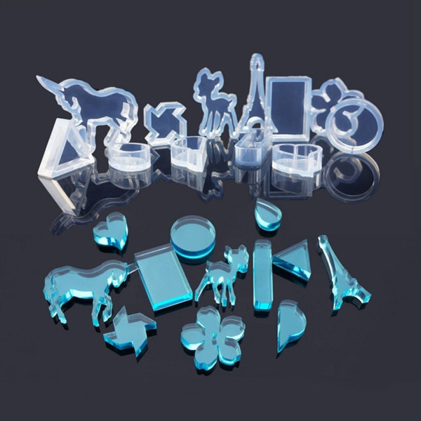 Flower Horse Tower Silicone Mould DIY Resin Casting Pendant Necklace Jewellery Making Mold DIY Craft Resin Molds For Jewelry