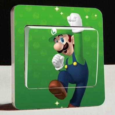 1 PCS light switch Stickers Removable Vinyl Wall Sticker Decal Home Decors giant Super Mario Bros Kids Large removable wall win
