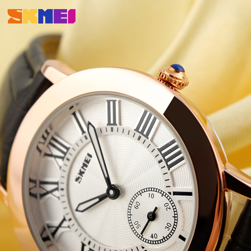 2019 Women Quartz Watch SKMEI Brand Lady Watches Fashion Retro Female Casual Ladies Genuine Leather Strap Women's Wristwatches