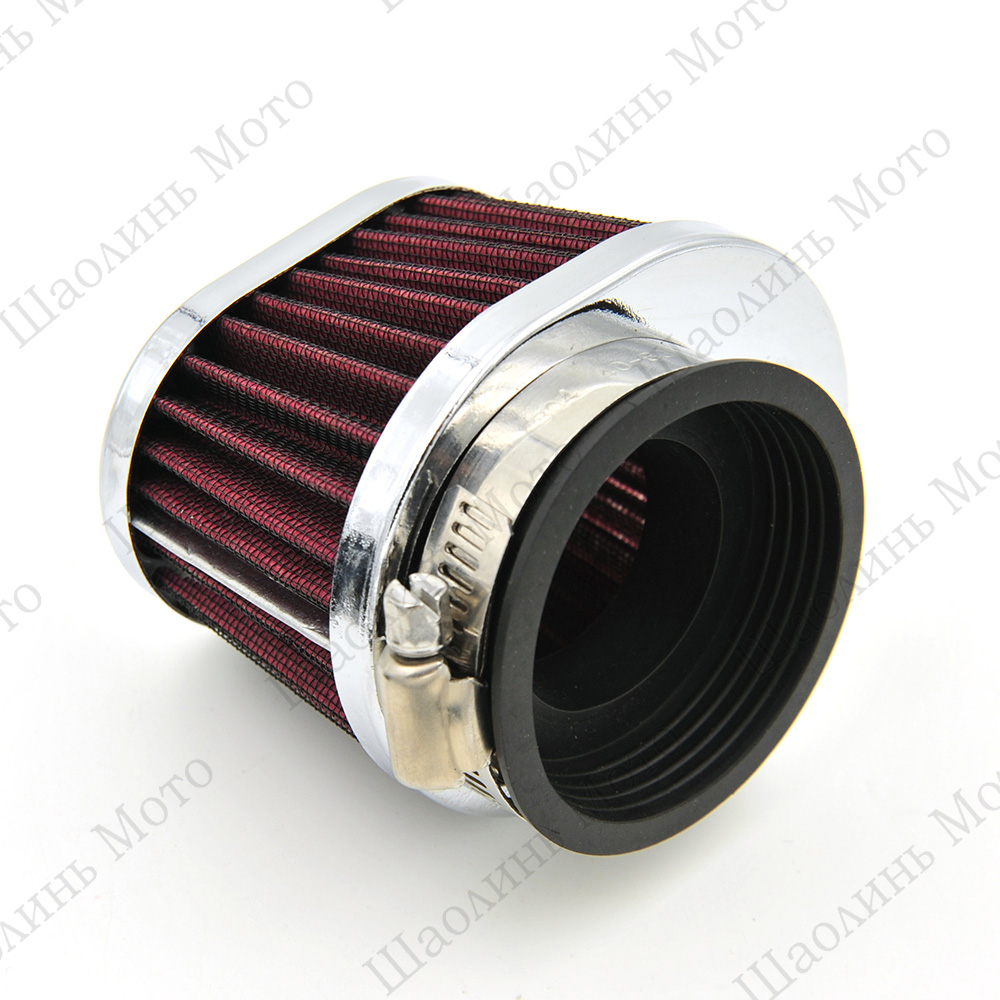 Universal Chrome Ring Motorcycle Air Filter 42MM 45MM 48MM 52MM 54MM Motorcycle Air Filter Cleaner For Yamaha Kawasaki Suzuki