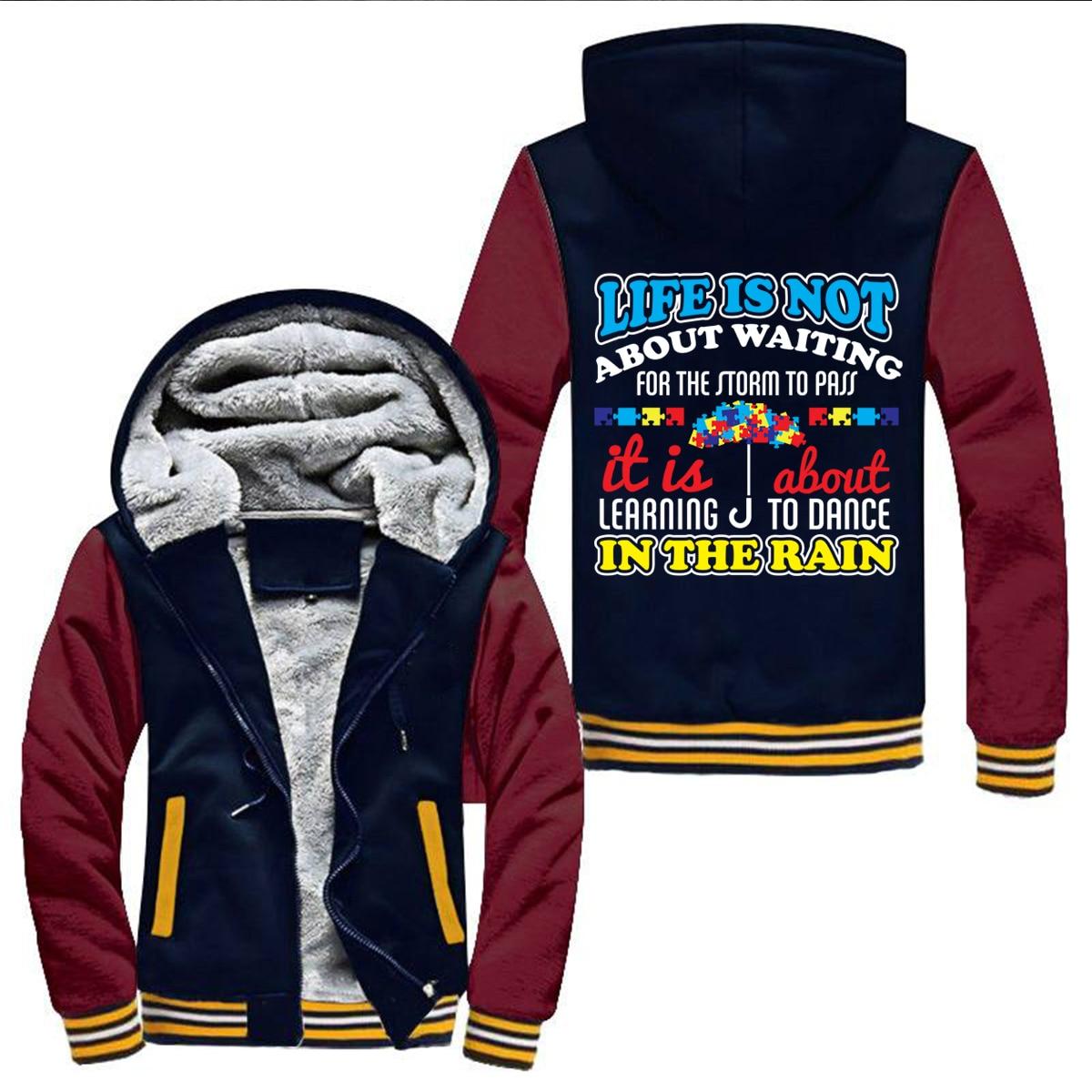I'M PROTECTING THOSE DISPATHER sweatshirt Winter Men Thick Hoodies Sweatshirt Zipper Fleece Tracksuit