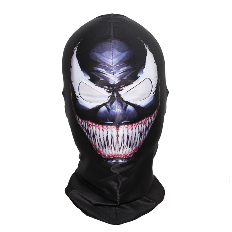 Movie Venom Spiderman Mask Cosplay Costumes Black Edward Brock Dark Spider Man Scary Masks Helmet Halloween Horror Party Props
