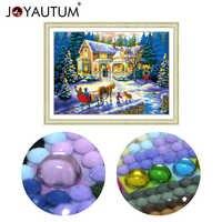 Pintura de diamantes en forma especial 5d 3d bordado de diamantes mosaico de piedras de cristal con cuentas kits de punto de cruz paisaje Navidad 70*50cm