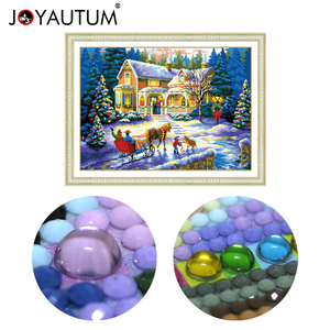 Image 1 - special shaped diamond painting 5d 3d diamond embroidery mosaic crystal stones beaded cross stitch kits scenery Christmas70*50cm