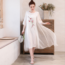 Spring and summer new style Literary folk embroidery loose two-piece dress Sun protection suit