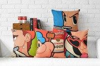 Марио подушки крышки, Pop Art белоснежка принцесса Popeye Astro Boy бросьте наволочку наволочки/посуда