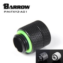 "Barrow TXYZ-A01 Rotary Revolvable Male to Female 13mm Extender Fitting With G1/4"" Threads Silvery Black White Color Options(China)"