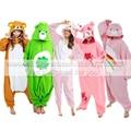 Взрослый Новый Животных Костюм Розовый Уход Медведь/Мрачные Медведь/зеленый Повезло Медведь Косплей Onesies Женщина Мужчина Милый Зимний Пижамы Одежды