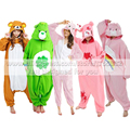 Adult New Animal Costume Pink Care Bear / Gloomy Bear / Green Lucky Bear Cosplay Onesies Woman Man Cute Winter Pajamas Garment