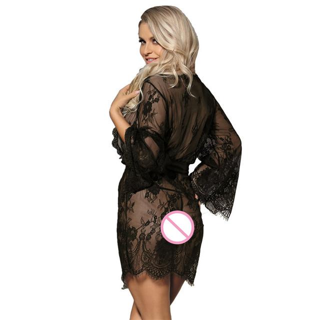 Comeondear Delicate Lace Sleepwear Gown Tenue Sexy Erotic Porno Sexy Lingerie Dress RB80528 Teddies Lingerie Women Sexy Lingerie
