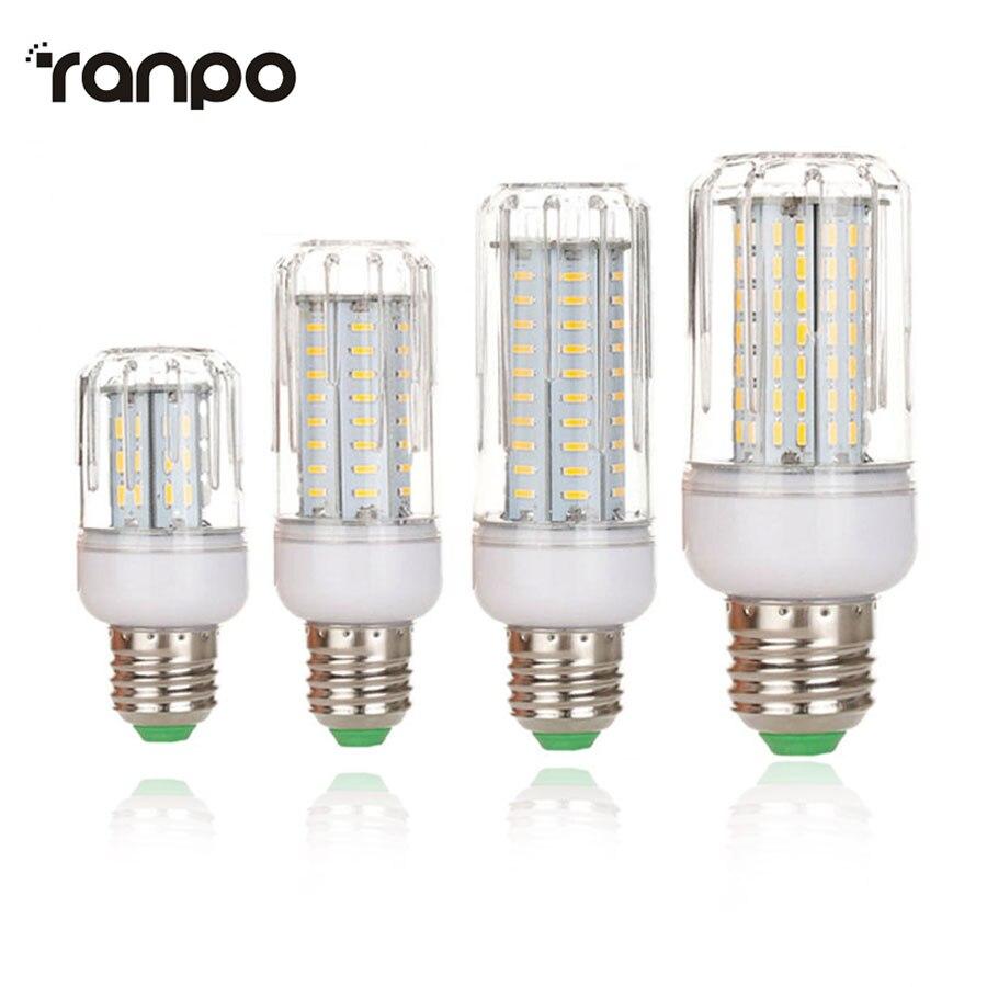 Pode ser escurecido e27 led milho lâmpada 12 w 18 21 25 led spotlight 4014 smd alto brilho lâmpada 220 v 110 v inteligente ic power lustre