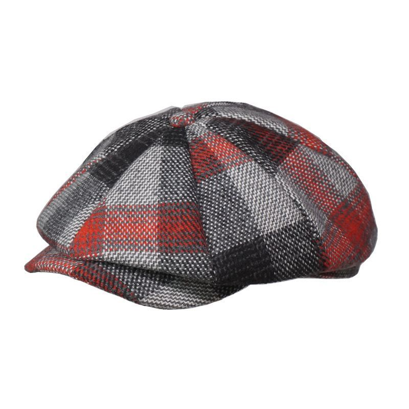 Hats Newsboy-Caps Painter Large-Size Octagonal-Hat Peaked-Cap Wool Women Man 55-59cm