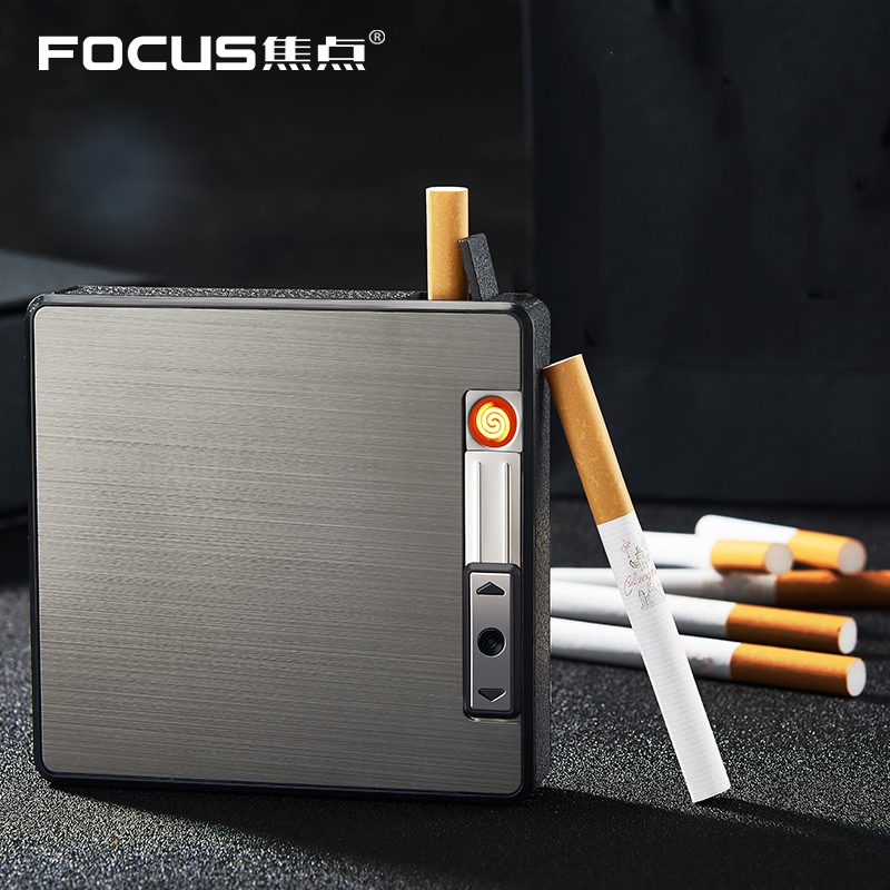 Cigarette Case Box with USB Electronic Lighter Cigarette Plasma Arc Metal Lighter Electric 6PCS Cigarette Holder Gadgets for MenCigarette Case Box with USB Electronic Lighter Cigarette Plasma Arc Metal Lighter Electric 6PCS Cigarette Holder Gadgets for Men