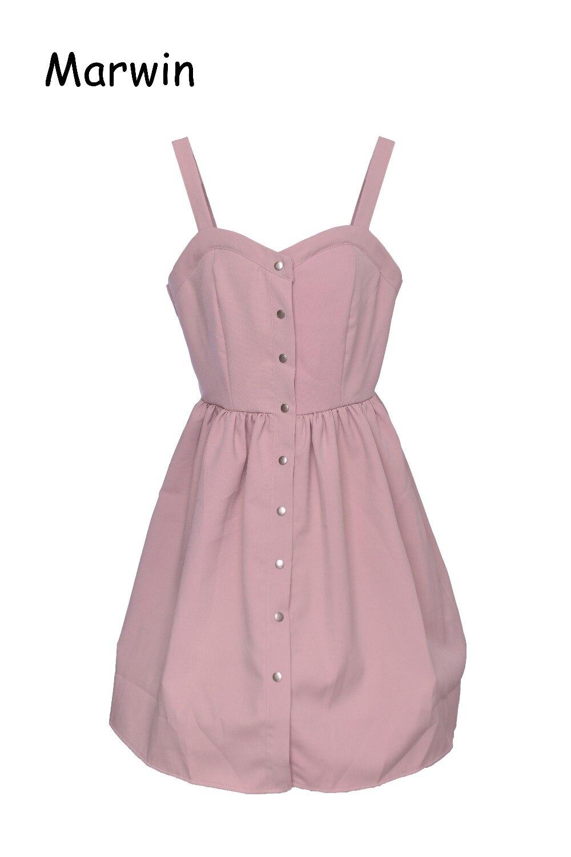Marwin Summer 2018 Polyester Pure color Long Boho Bohemian Summer Dress Women Sundress Sexy Casual Loose Elegant Vintage Ladies