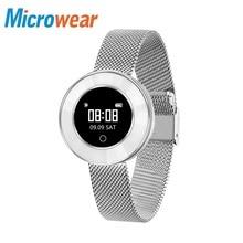 Microwear X6 women smart bracelet watch waterproof heart rate wristband ladies girls bluetooth Pedometer Message Reminder