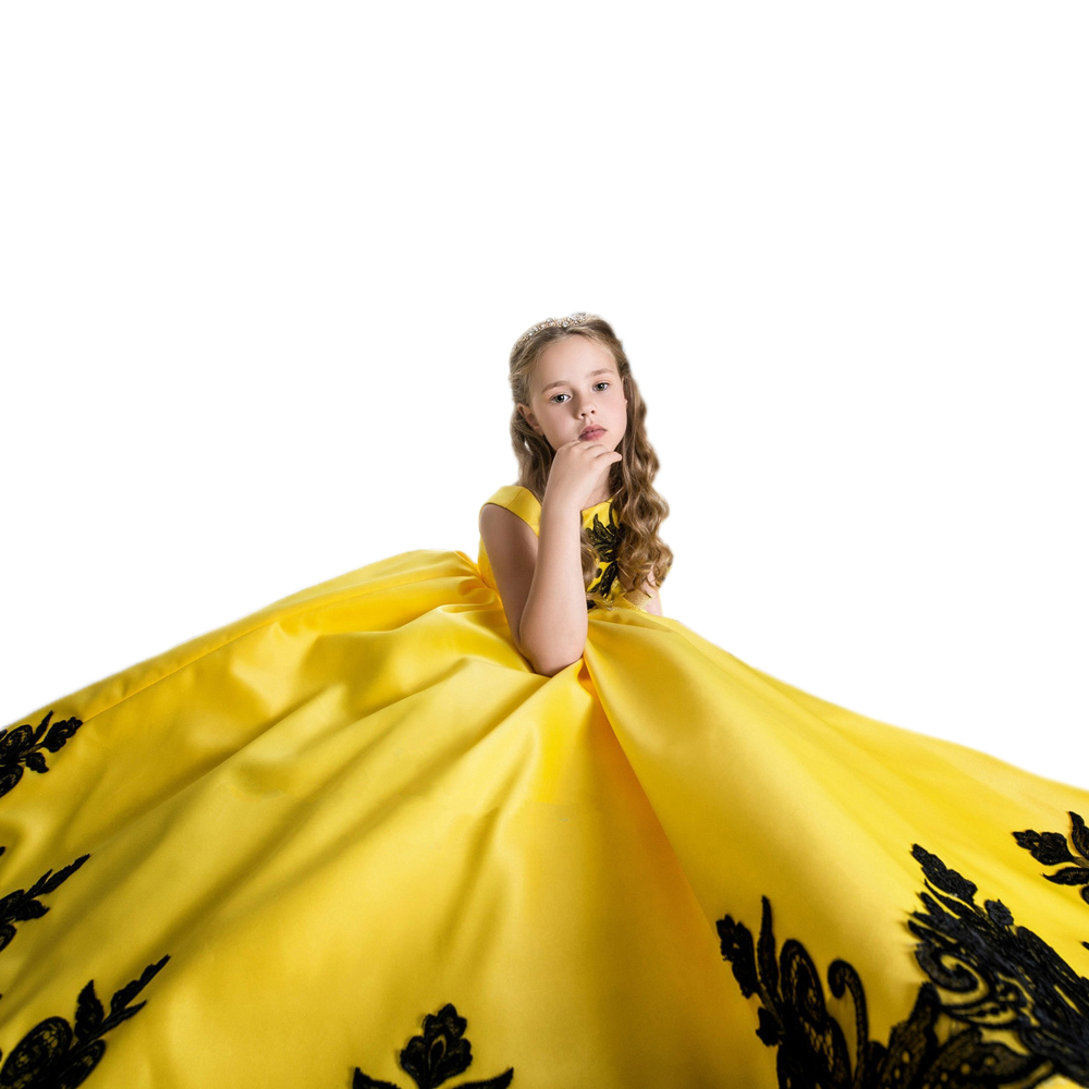Popular Yellow Pageant Dresses-Buy Cheap Yellow Pageant ...