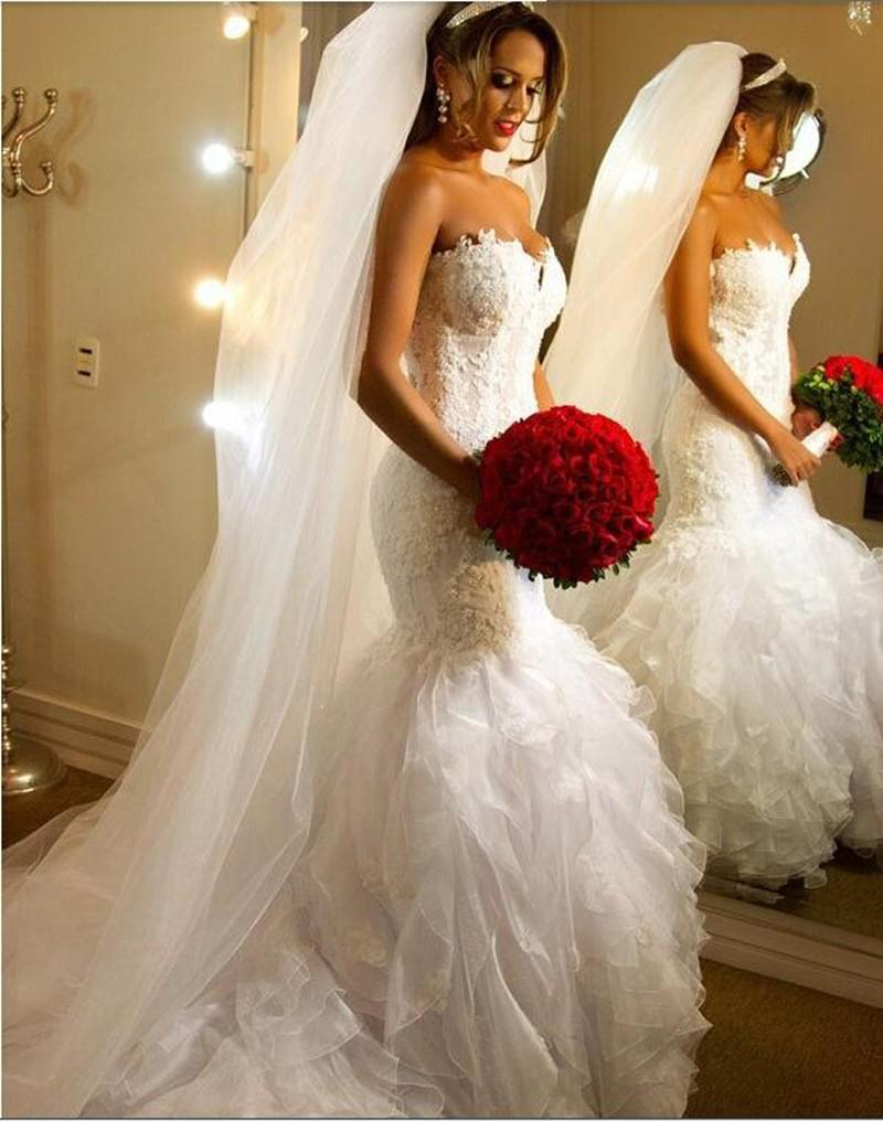 Sexy Ivory Mermaid Wedding Dresses