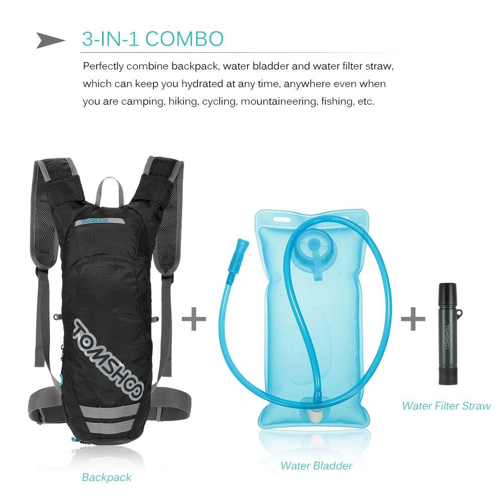 Details about  /Hydration Reservoir Water Bladder Soft Pack Running Backpack Water Storage Bag