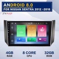 10,1 дюймов Android 8,0 dvd плеер автомобиля gps навигации видео головное устройство для Nissan sylphy Sentra pulsar (Австралия) 2012 2016