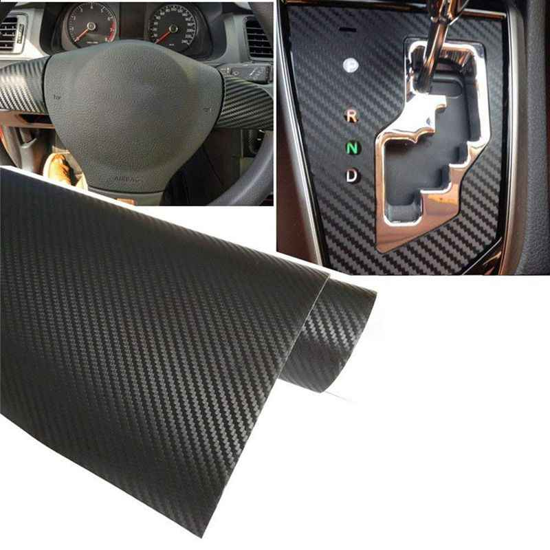 3D Carbon Fibre Adhesive Wrap for Car 1500 x 300 mm Black for Interior/Exterior Textured 3D Effect