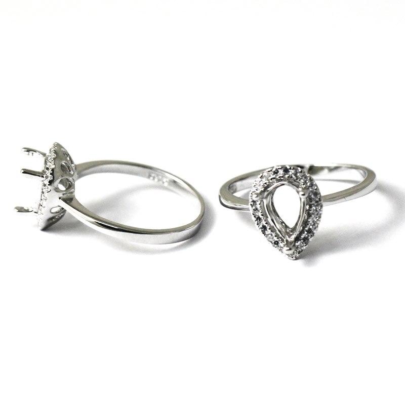Beadsnice ID27353 Popular 925 Silver Rings For Women Elegant Forever Wedding Engagement Setting Semi Ring Mount