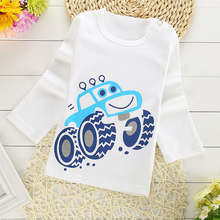 2019 new baby girl and boy clothes t shirt long sleeve kidsT-shirt quality 100% cotton children cartoon car clothes tops children clothes long sleeve strawberry patten 100