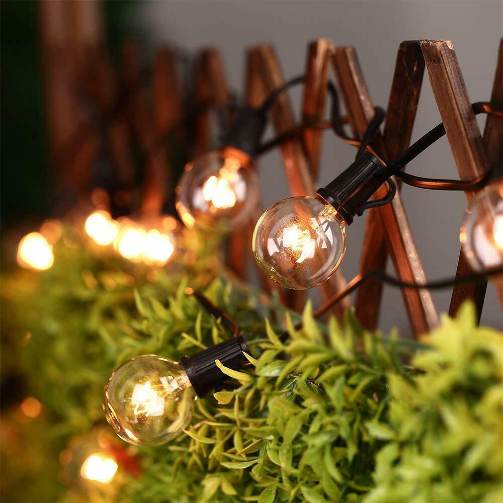 25 Globe Bulbs LED Garland Holiday Fairy String Lights 7.5M Christmas Lights Outdoor Garden Decorative Lights Waterproof