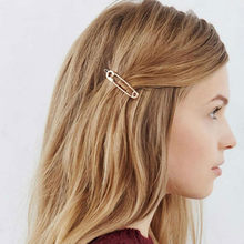Fashion Exquisite Wedding Jewelry Hair Clip Metal Pin Shape Hair Ornaments Decorated Clip For Women Girls Hair Accessorie(China)
