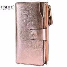 Itslife 2019 женский функциональный кошелек из натуральной кожи