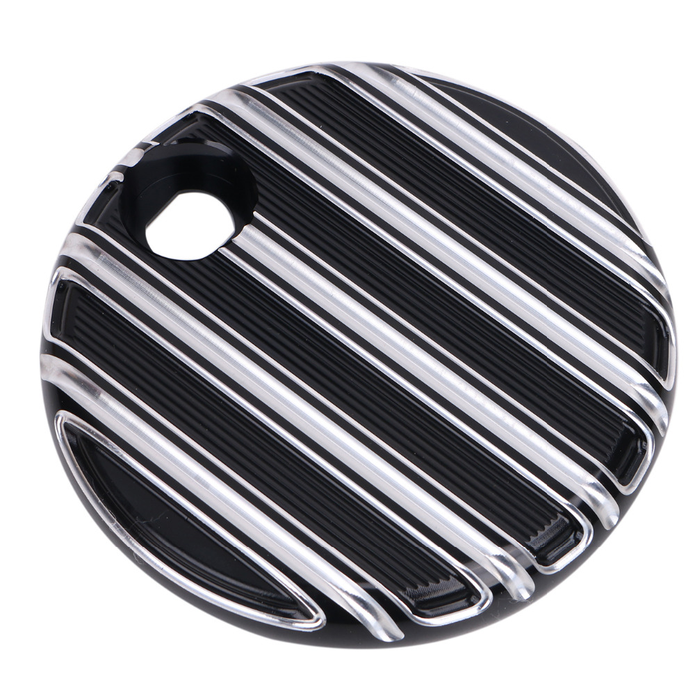 Black Aluminum Motorcycle Fuel Gas Door Cover for Harley Touring Street Road Electra Glide CVO 2014-2017 #MBG279 rst 001 bk black aluminum rear seat mounting tab cover for harley sportster dyna softail street glide street bob touring