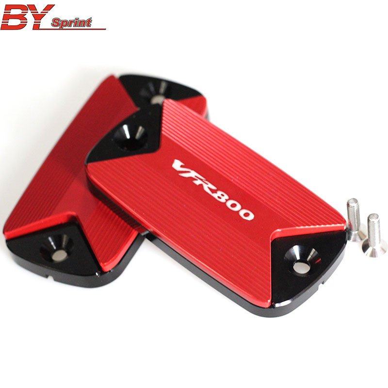 LOGO(VFR800)For HONDA VFR800F VFR800X VFR 800 VFR800 X/F 2011 2015 Motorcycle Accessories CNC Brake fluid reservoir cap cover
