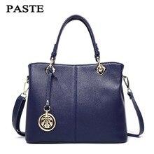 Women Cowskin Genuine Leather Bags Designer Brand Handbags 0739
