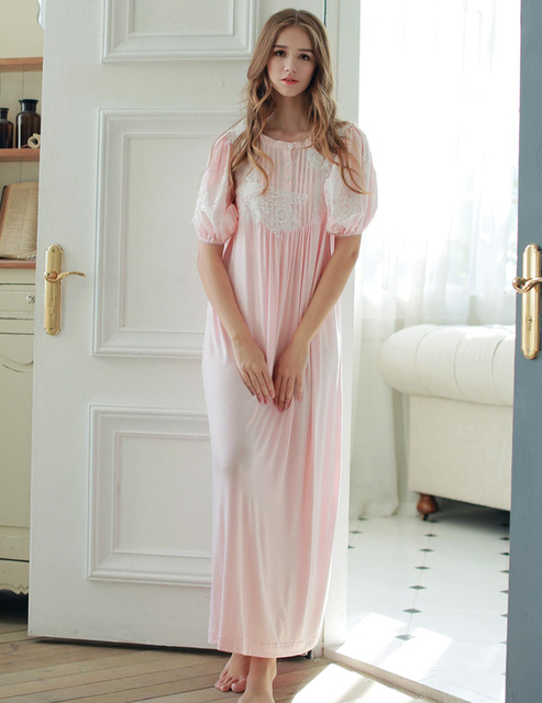 High Quality Modal Nightdress Casual Ankle Length Short