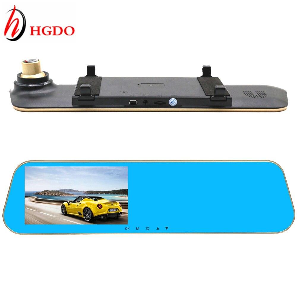 HGDO новейший Автомобильный видеорегистратор зеркало заднего вида камера автомобильный видеорегистратор с двумя камеры полное HD 1080p Видео регистратор тире CAM видеорегистратор