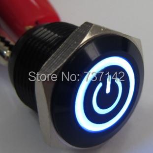 Elewind 16ミリメートルイルミネーション電源シンボルプッシュonスイッチ(PM161F 10ET/j/b/12ボルト/a)  グループ上の ライト & 照明 からの スイッチ の中 1