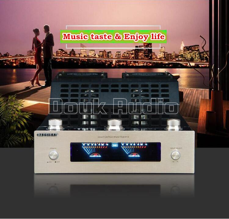 Douk Audio Bluetooth 4.0 HiFi Vacuum Tube Amplifier Stereo Class AB High-power Audio Amp Support USB/SD Card Play music hall bluetooth 4 0 valve vacuum tube amplifier stereo power integrated audio hifi amp support usb