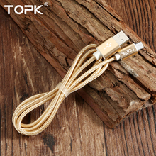 Ultra Durable Nylon Braided Wire Metal Plug Data Cable