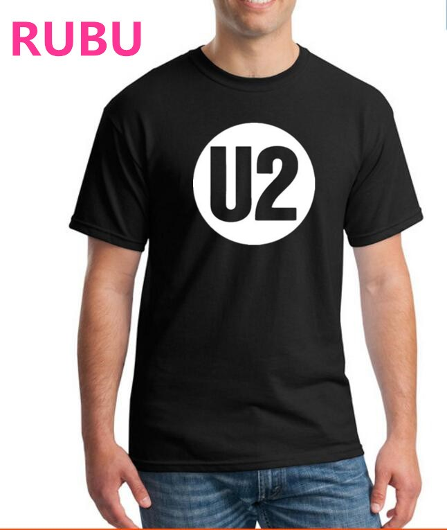 2017 RUBU U2 Impresso t-shirt fitness men & men t shirt tops - ملابس رجالية