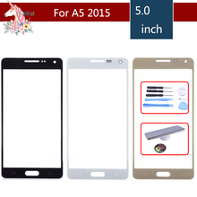 For Samsung Galaxy A5 2015 A5000 SM-A500F A500F A500H Front Outer Glass Lens Touch Screen Panel Replacement аккумулятор для телефона craftmann eb ba500abe для samsung galaxy a5 2015 sm a500f sm a500h