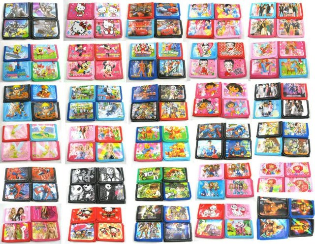 Free Shipping!!! 120 pcs Children's Purses coin Wallets with 1 Zip