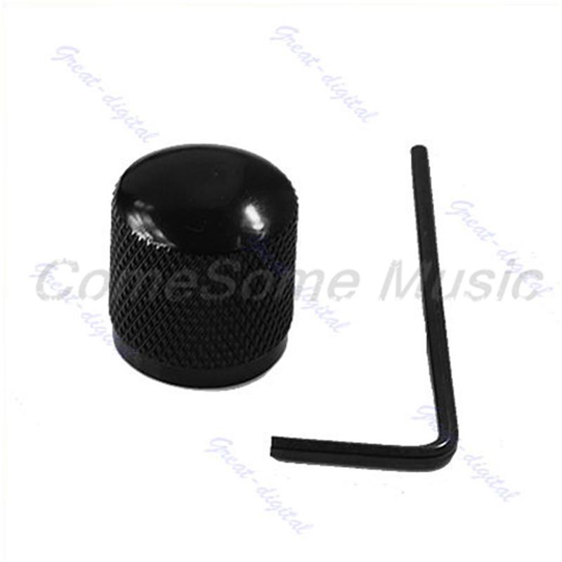 Black Guitar Bass Metal Dome Tone Control Knob #K105C# hot sale abs chromed front behind fog lamp cover 2pcs set car accessories for volkswagen vw tiguan 2010 2011 2012 2013