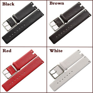 Image 2 - MAIKES New Good Quality Genuine Leather Watchbands Case For CK Calvin Klein K94231 White Black Thin Watch Strap Band