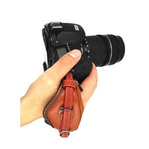 Image 2 - العالمي DSLR كاميرا جلدية اليد قبضة شريط للرسغ لوحة يناسب لكانون 1000D 550D 600D نيكون سوني فوجي فيلم كاميرا