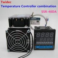 عالية الجودة ترموستات منظم ssr الناتج تحكم pid + الحرارية k + ثلاث مراحل الحالة الصلبة التتابع SSR-40DA