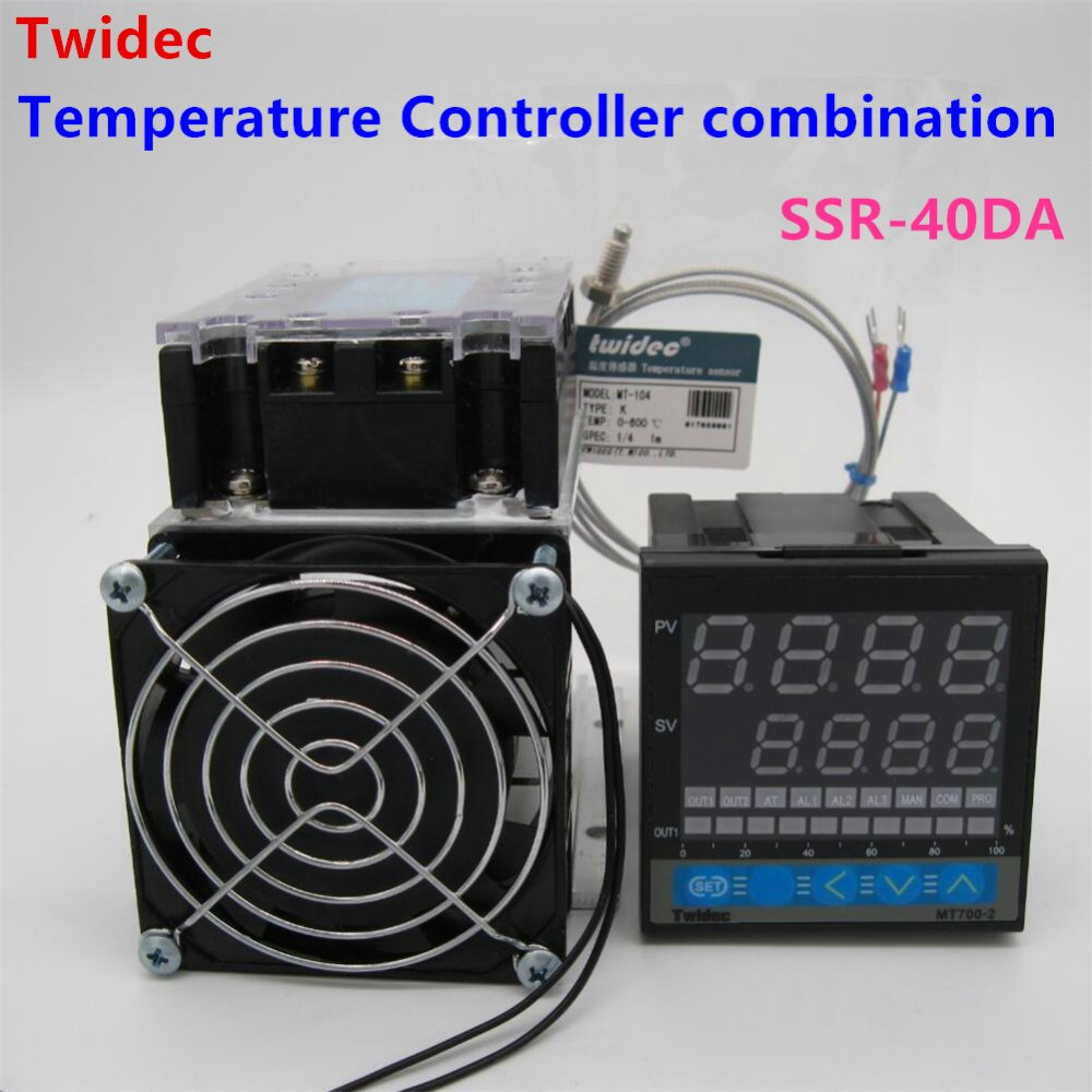 High Quality Thermostat Regulator SSR Output PID Temperature Controller + Thermocouple K +Three Phase Solid State Relay SSR-40DA