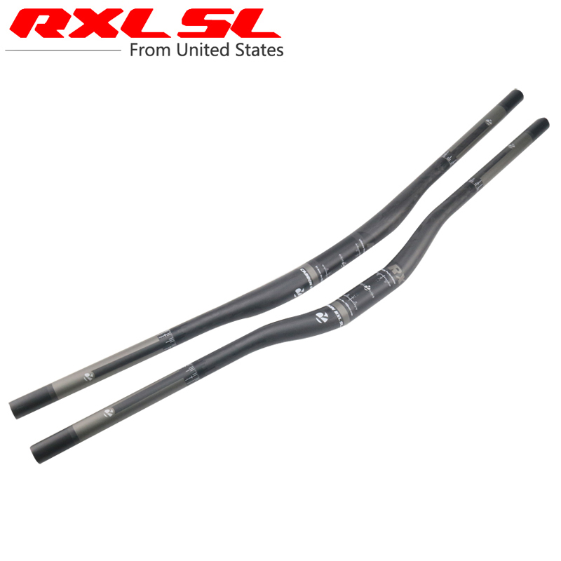 RXL SL Cycling Carbon Handlebar MTB Straight Flat/Riser Handle Bars Mountain Bike 31.8*760/780/800/820 Matte Bicycle Handlebar