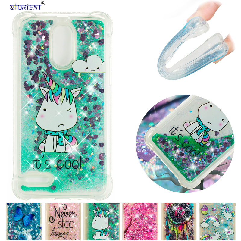 Soft TPU Cover for <font><b>LG</b></font> Stylus 3 Stylo 3 K10 Pro Dynamic Love Heart quicksand Case for <font><b>LG</b></font> Stylo3 Stylus3 <font><b>M400DY</b></font> M400DK LS777 Funda image