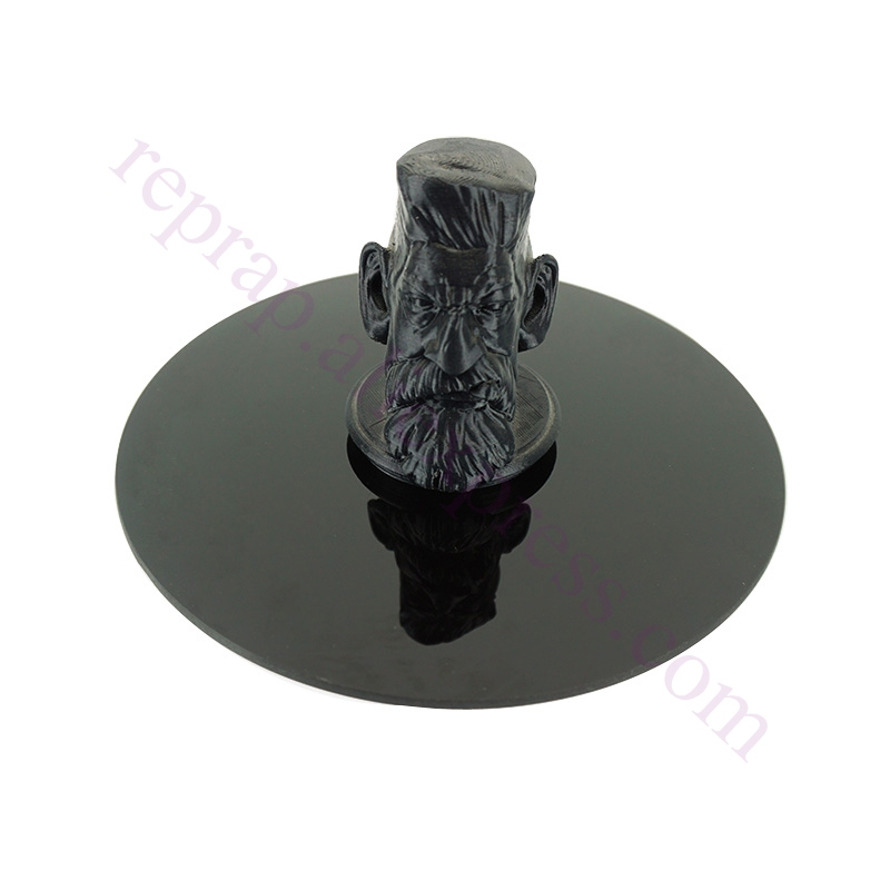 800Degree 4mm Thick Dia 200mm Black Crystal Round .