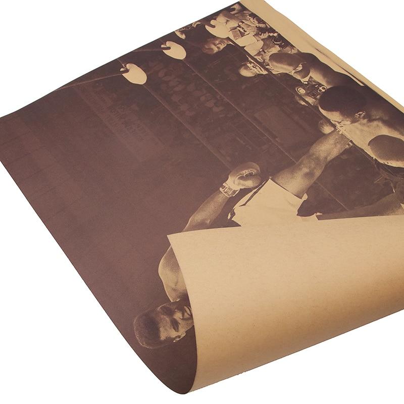 """DLKKLB """"с изображением Мохаммеда Али и цитатой «Винтаж Ретро плакат, крафт-бумага Бумага, ручной стержень, для кафе, для украшения интерьера живопись постер фильма 51x35,5 см стены Стикеры"""